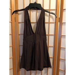 Arden B Brown Halter Top